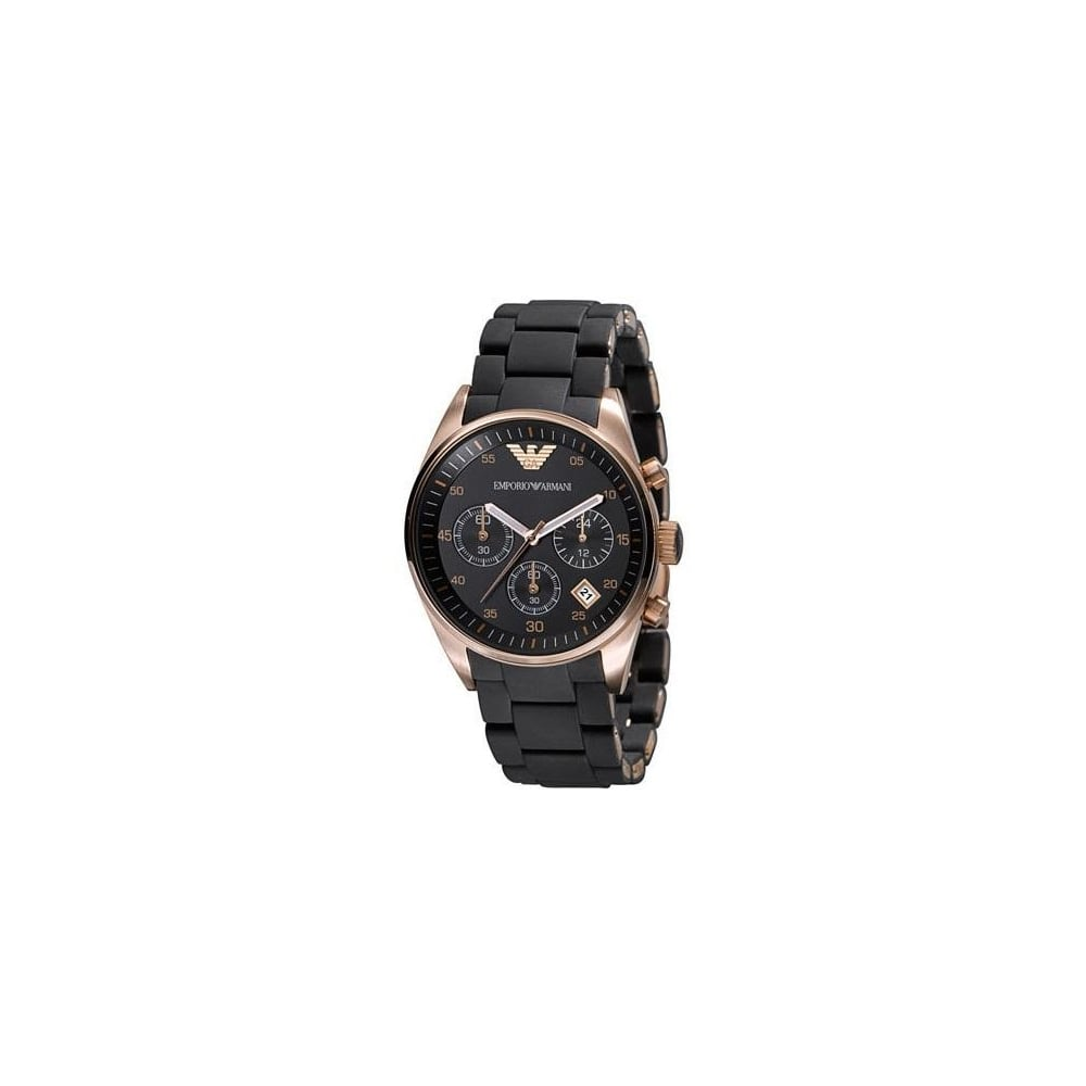 187c8c5e93 Emporio Armani Ladies Black Tazio Watch AR5906 - Womens Watches from ...