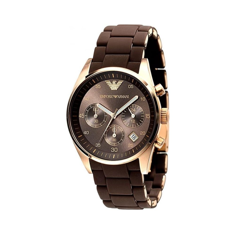 b510d1c8ab Emporio Armani Ladies Brown Tazio Watch AR5891 - Womens Watches from ...