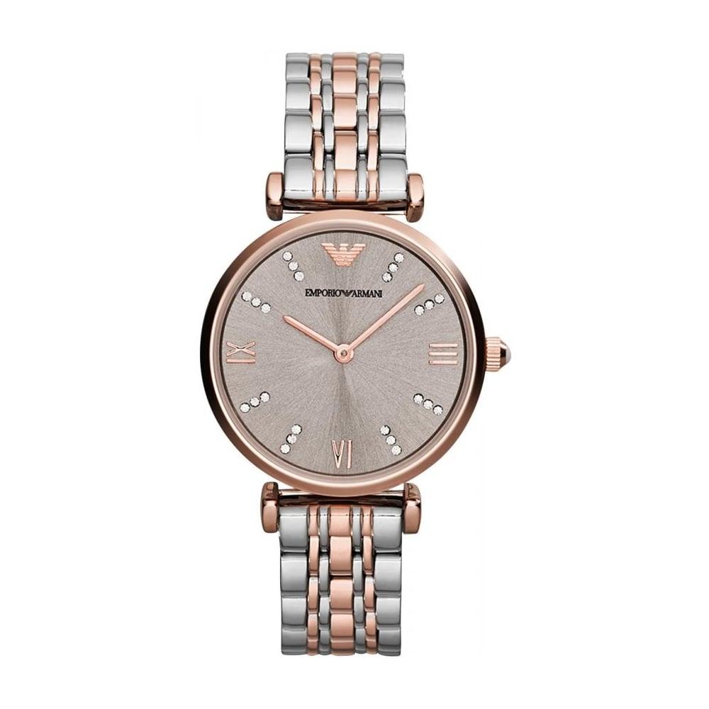d547c276 Emporio Armani Ladies Gianni T-Bar Watch AR1840