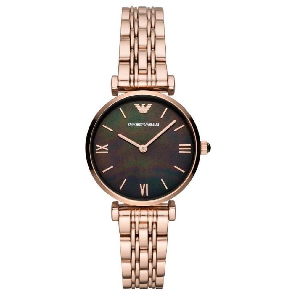 Emporio Armani Ladies Rose Gold T-Bar Watch AR11145 - Womens Watches from  The Watch Corp UK 8a1032288edc