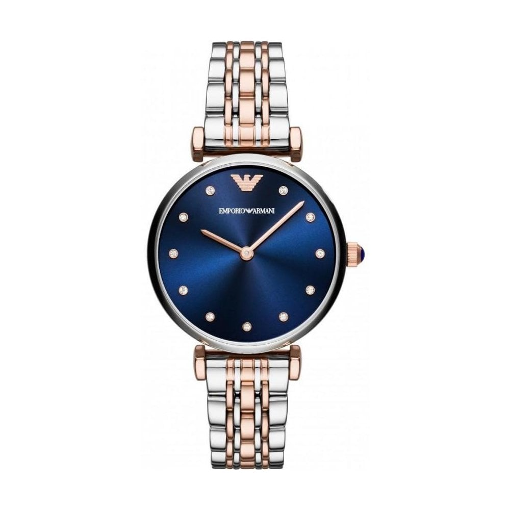 99512ab9ea Emporio Armani Ladies Two Tone T-Bar Watch AR11092 - Womens Watches from The  Watch Corp UK