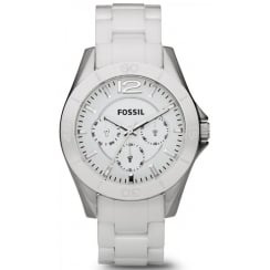 Fossil Riley Multifunction Ladies Ceramic Watch CE1002