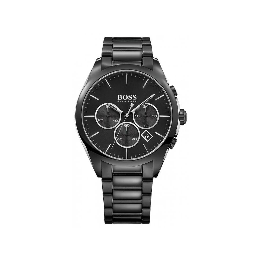 48eaf82df007 Hugo Boss Mens Black Chronograph Watch HB 1513365 - Mens Watches ...