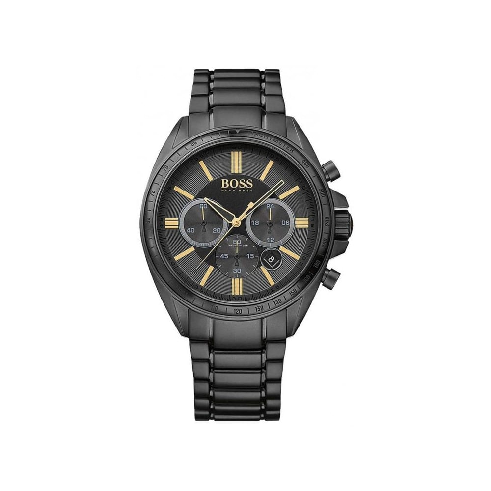 Skate-Schuhe im Angebot am besten authentisch Hugo Boss Mens Black Driver Chronograph Watch HB 1513277 - Mens ...