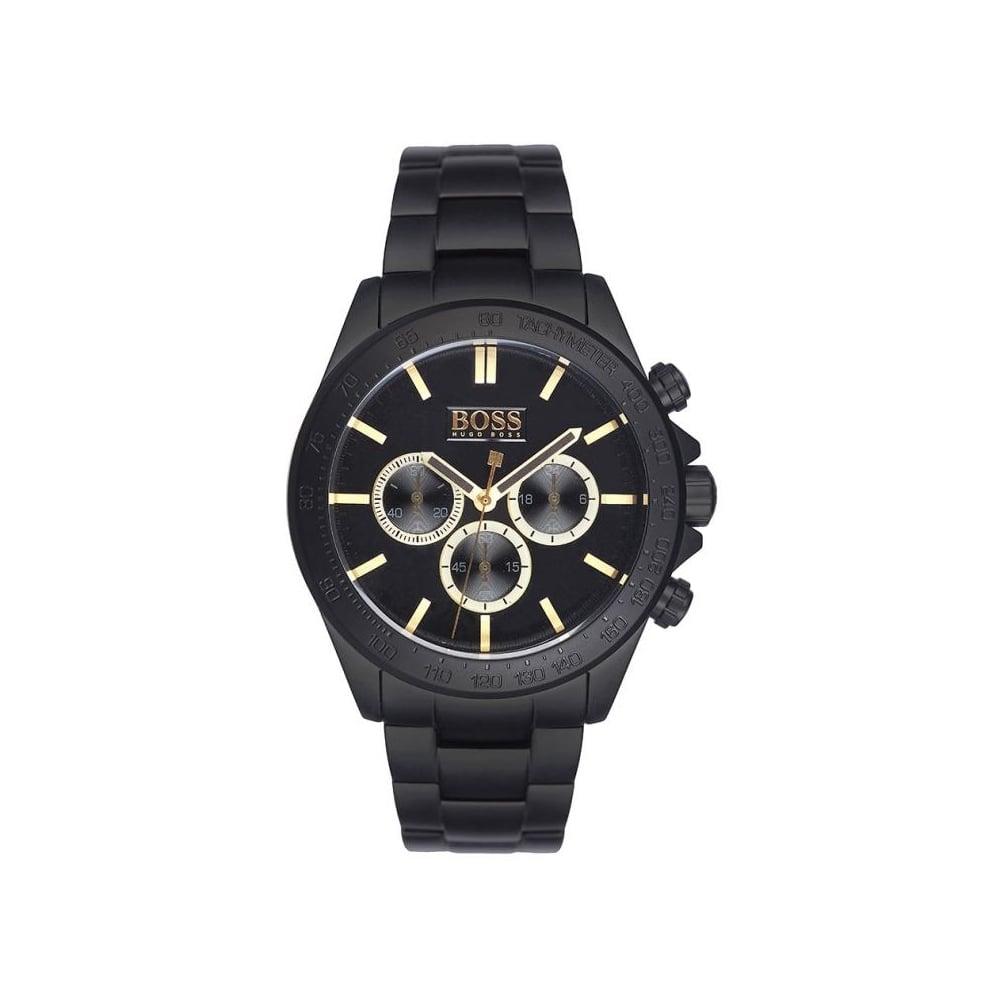 1ebce3ec7eb8 Hugo Boss Mens Black Ikon Chronograph Watch HB 1513278 - Mens ...