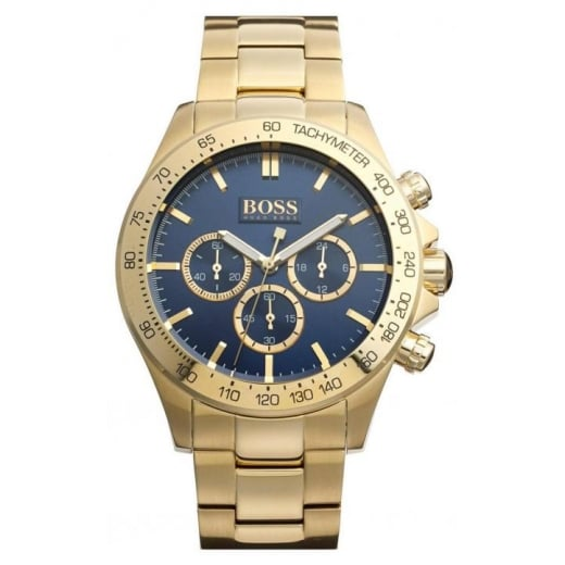 Mens Gold Chronograph Watch HB 1513340