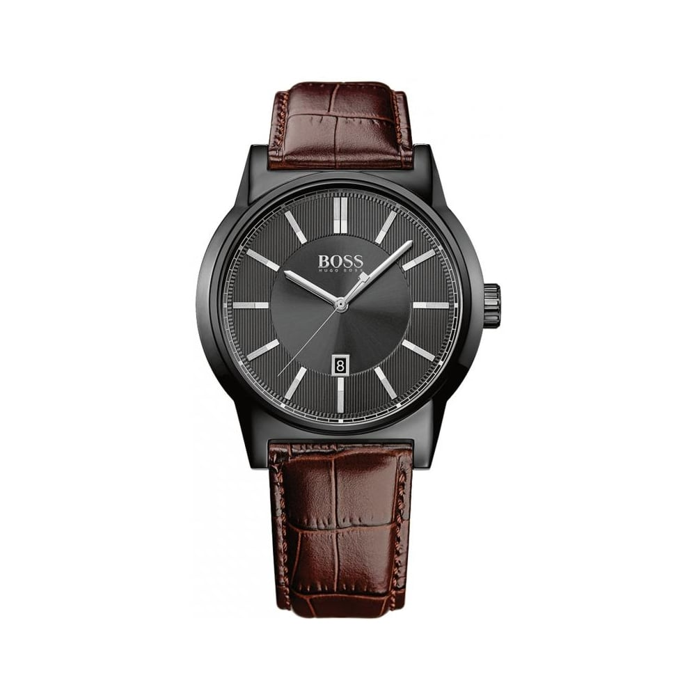 Hugo Boss Mens Leather Watch Hb 1513071