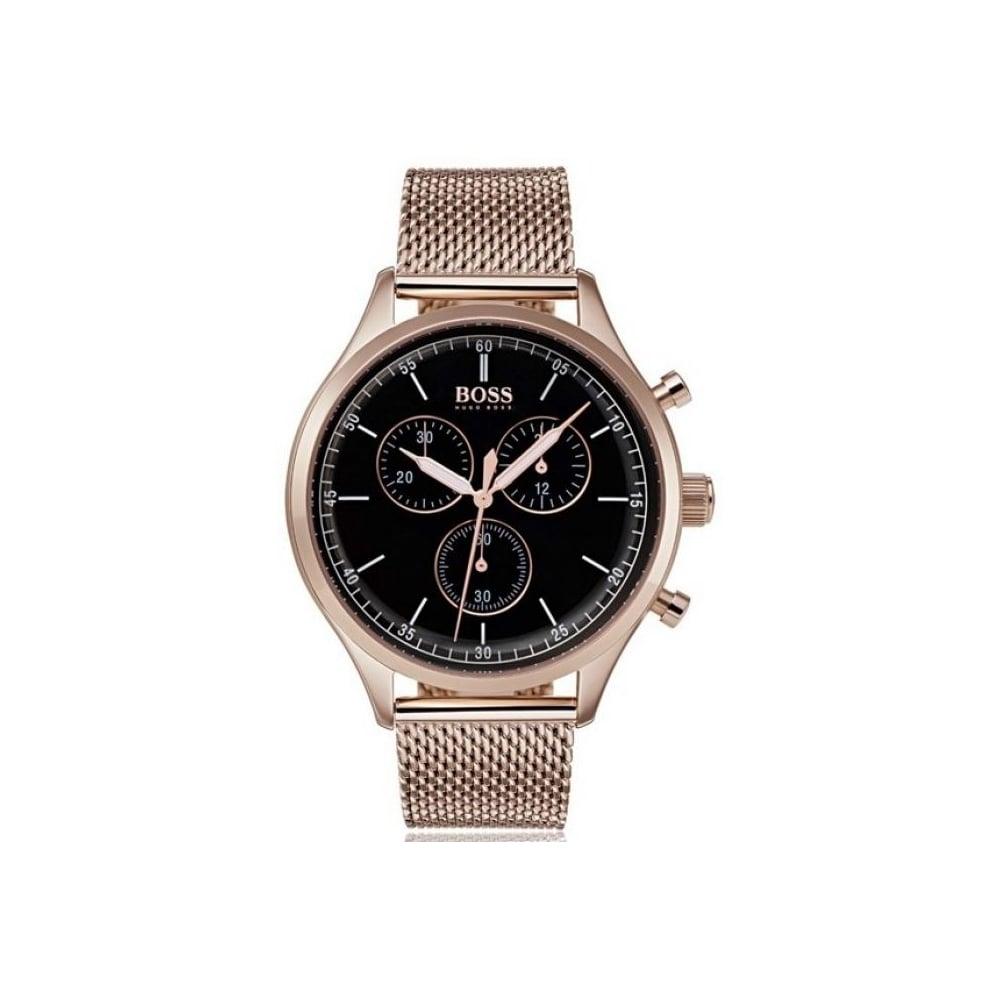 Hugo Boss Mens Rose Gold Companion Watch Hb 1513548 Mens Watches