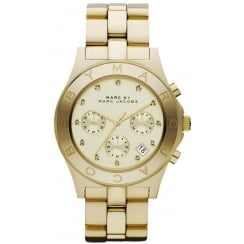Marc Jacobs Ladies Gold Blade Watch MBM3101