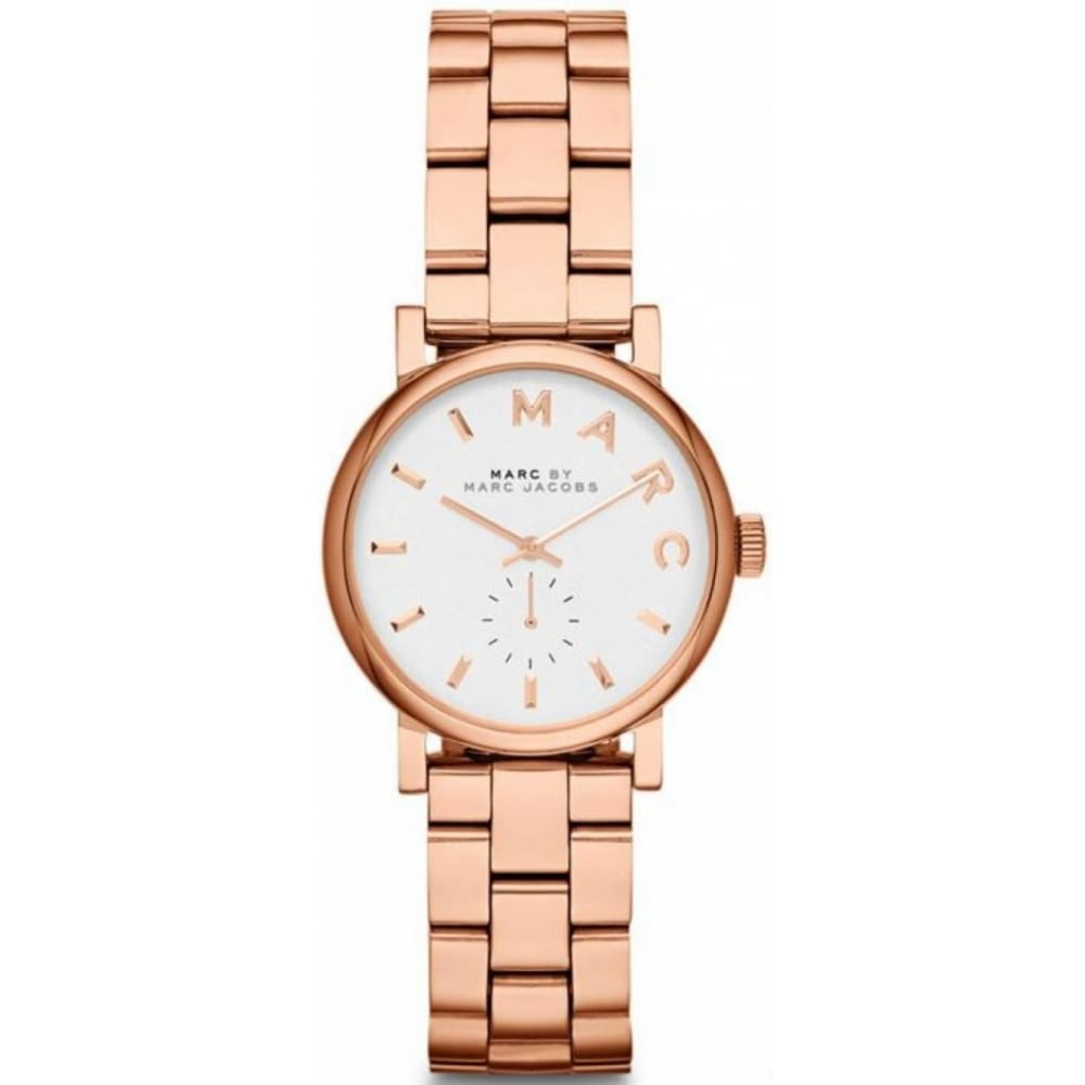 Marc Jacobs Ladies Rose Gold Baker Mini Mbm3248 Womens Watches