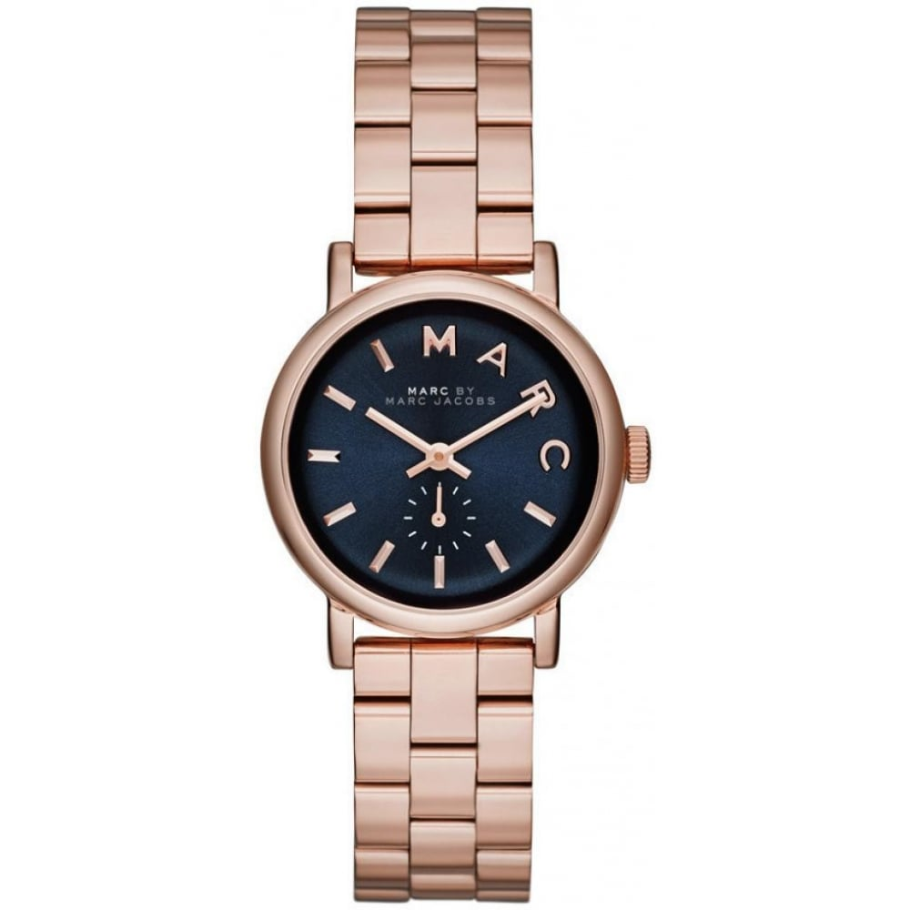 Marc Jacobs Ladies Rose Gold Baker Mini Mbm3332 Womens Watches