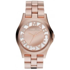 Marc Jacobs Ladies Rose Gold Henry Watch MBM3207