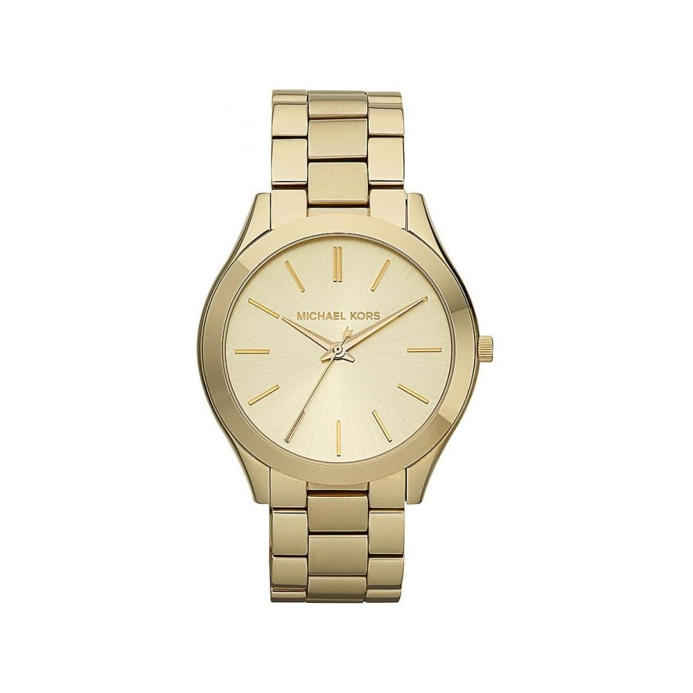 fc549e77c8a3 Michael Kors Ladies Gold Slim Runway Watch MK3179 - Womens Watches from The  Watch Corp UK