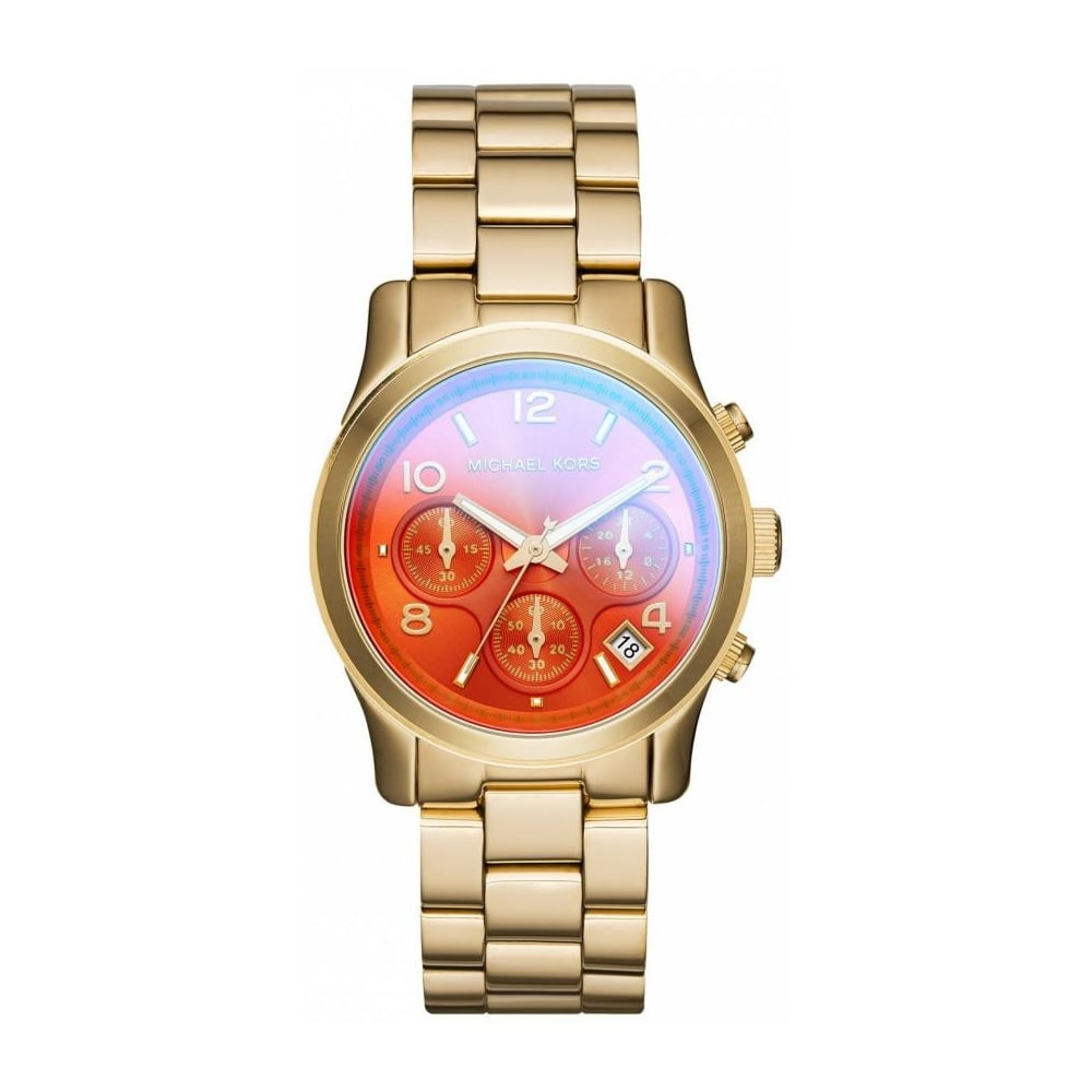da308efb1037 Michael Kors Ladies Orange Runway Watch MK5939 - Womens Watches from The  Watch Corp UK