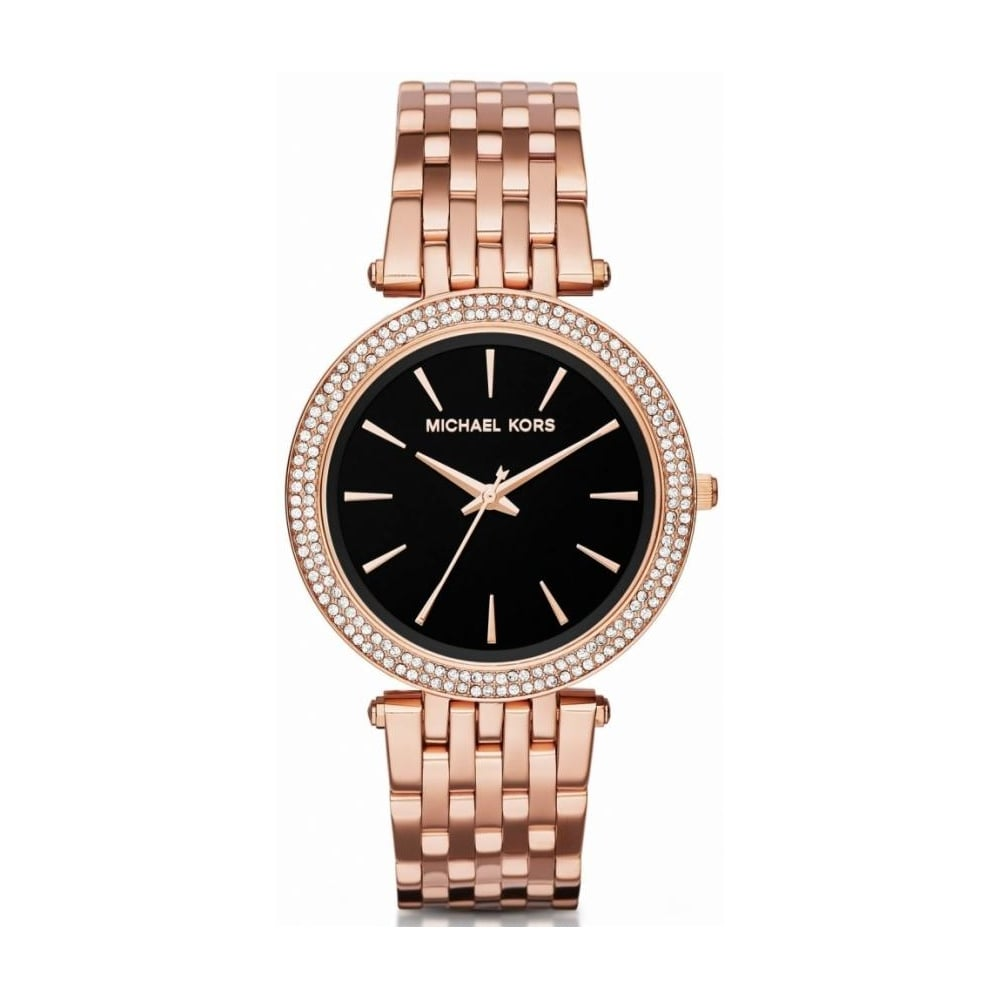 Michael Kors Ladies Rose Gold Darci Watch Mk3402 Womens Watches
