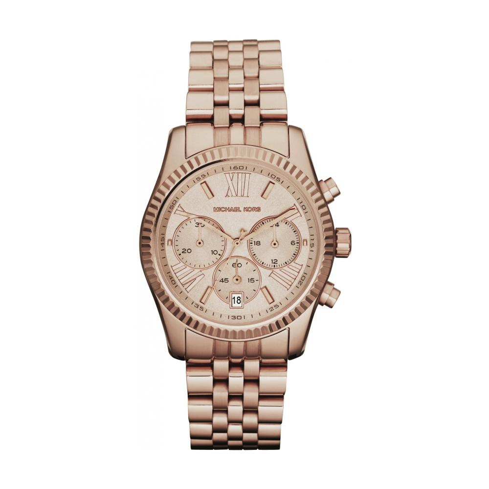de293e0eab25 Michael Kors Ladies Rose Gold Lexington Watch MK5569 - Womens ...