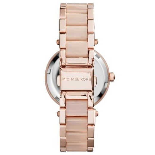 8e3cfd3ad2af Michael Kors Ladies Rose Gold Mini Parker MK6110 - Womens Watches ...