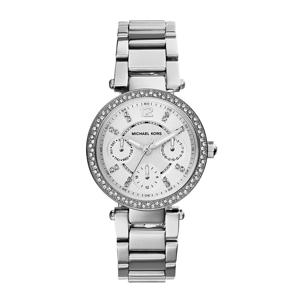 47c67ec97129 Michael Kors Ladies Silver Mini Parker Watch MK5615 - Womens Watches from  The Watch Corp UK