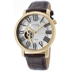 Rotary Mens Skeleton Watch GLE000019/21
