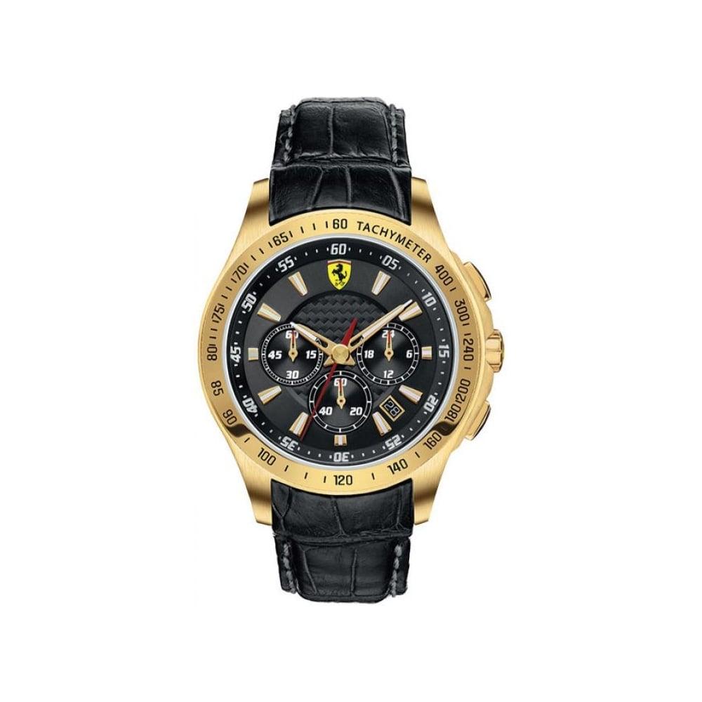 Ferrari Scuderia Ferrari Mens Gold Chronograph Watch 0830042 Mens Watches From The Watch Corp Uk