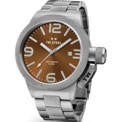 TW STEEL 45mm Brown Automatic Canteen Watch CB25